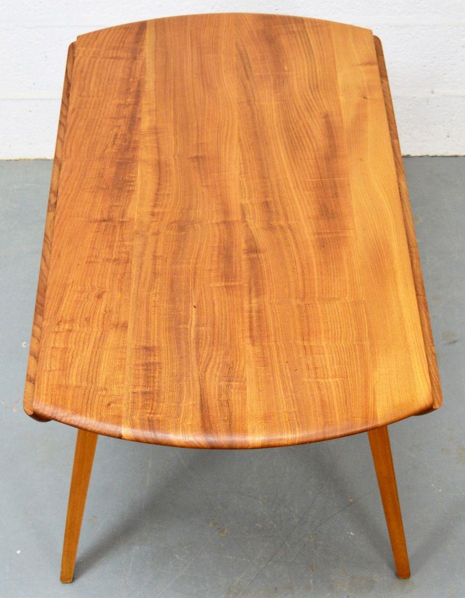 mid century ulmenholz esstisch mit st hlen von ercol bei pamono kaufen. Black Bedroom Furniture Sets. Home Design Ideas