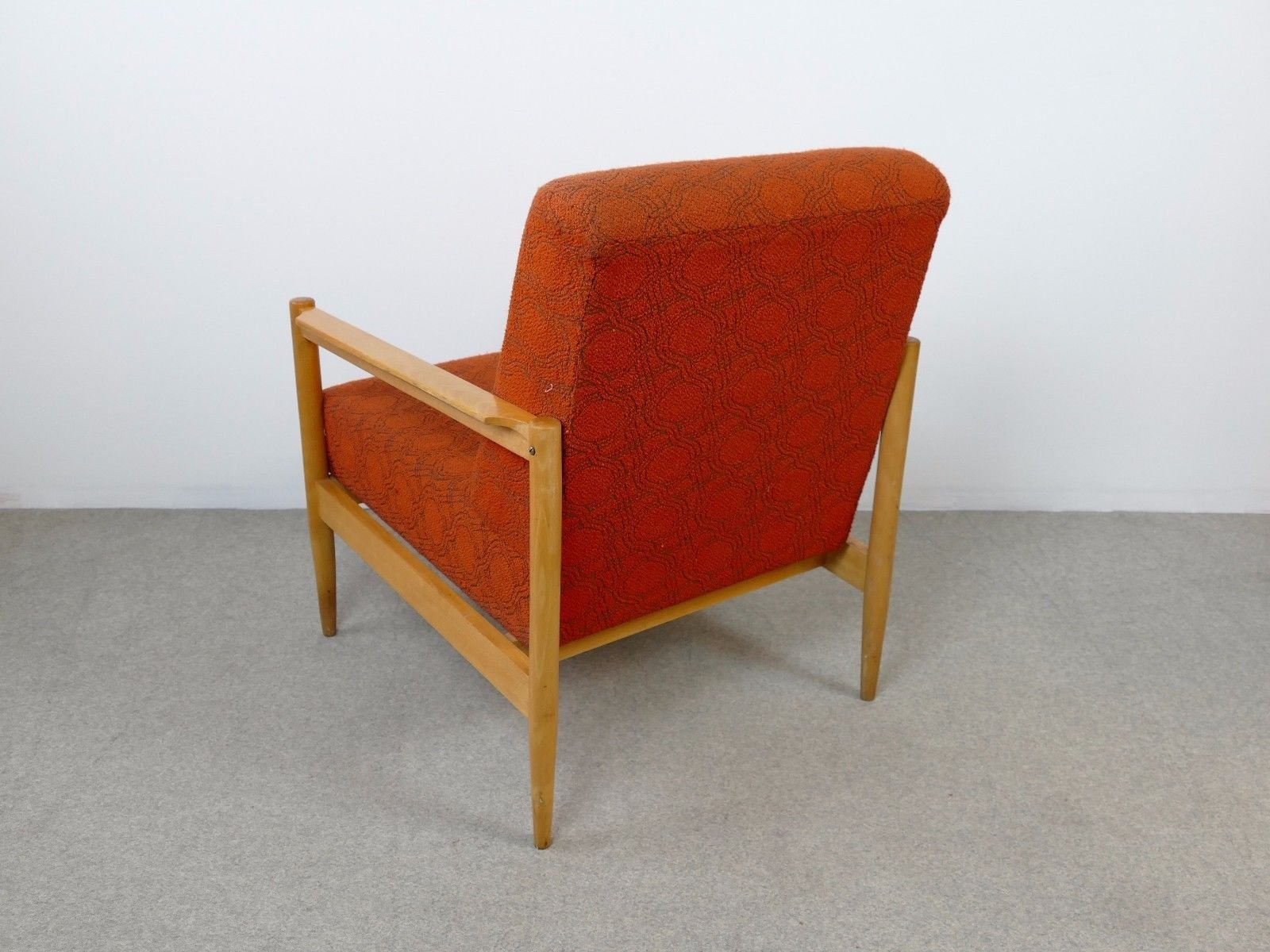 oranger mid century sessel 1960er bei pamono kaufen. Black Bedroom Furniture Sets. Home Design Ideas
