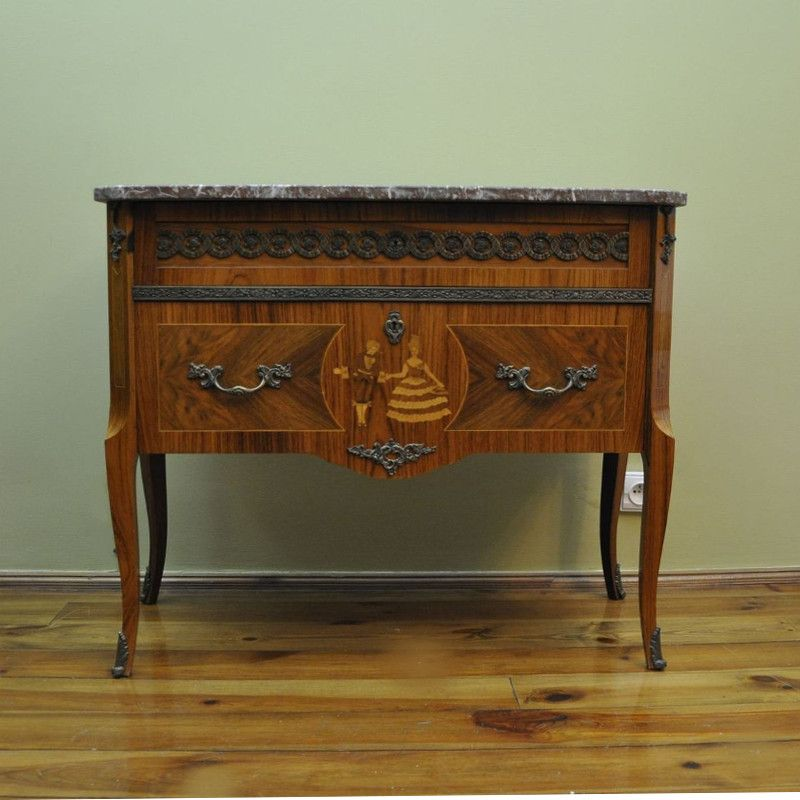 Vintage Dresser With A Marble Top