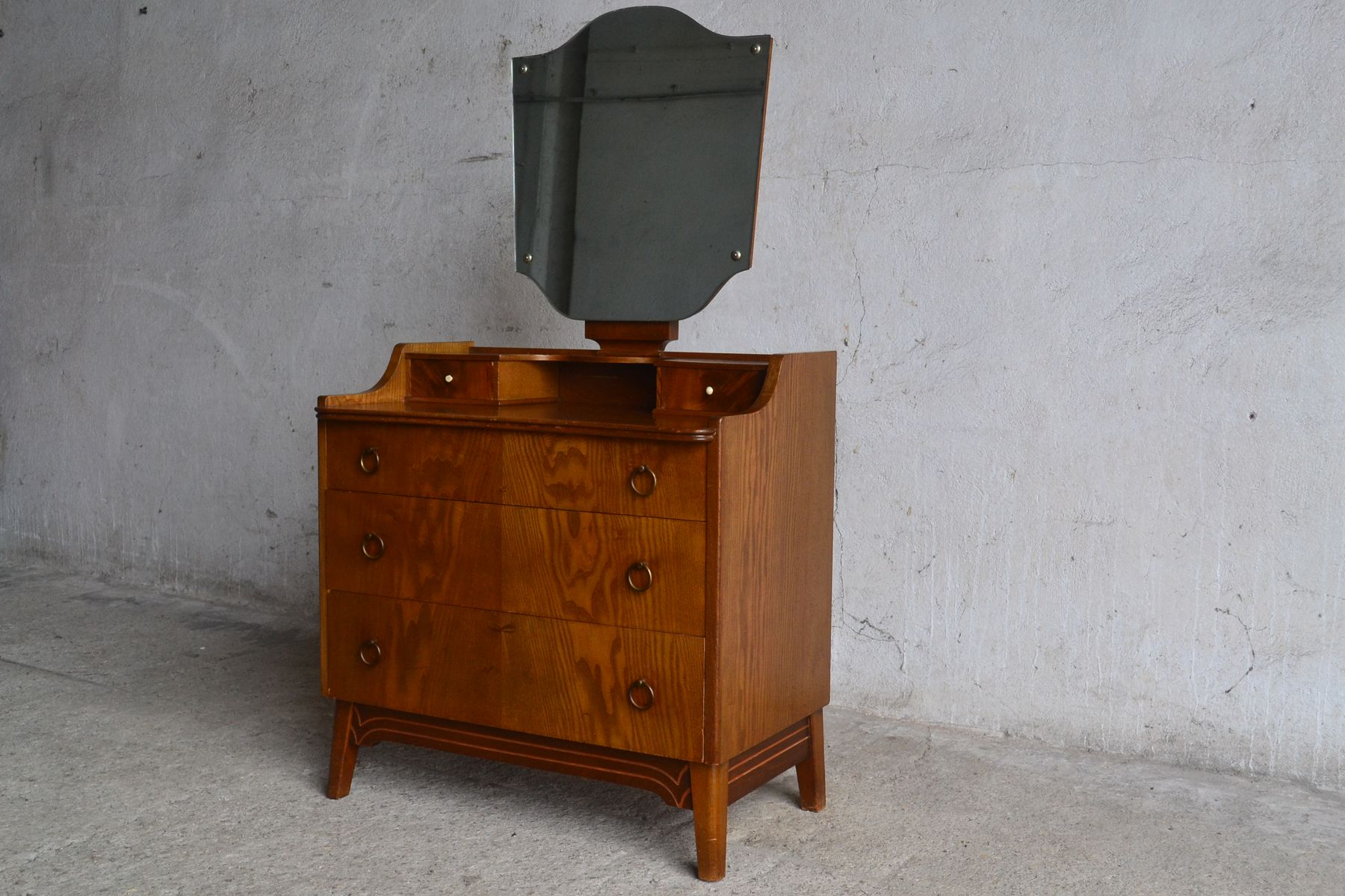 danish dressing table with round handles 1960s for sale