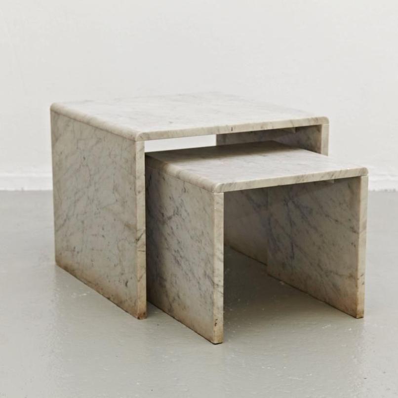 vintage marmor satztische 1960er bei pamono kaufen. Black Bedroom Furniture Sets. Home Design Ideas