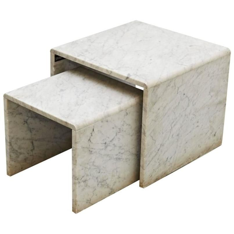 vintage marble nesting tables, 1960s for sale at pamono
