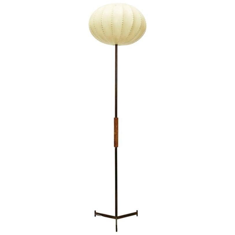 lampadaire vintage avec abat jour rond france 1960s en vente sur pamono. Black Bedroom Furniture Sets. Home Design Ideas