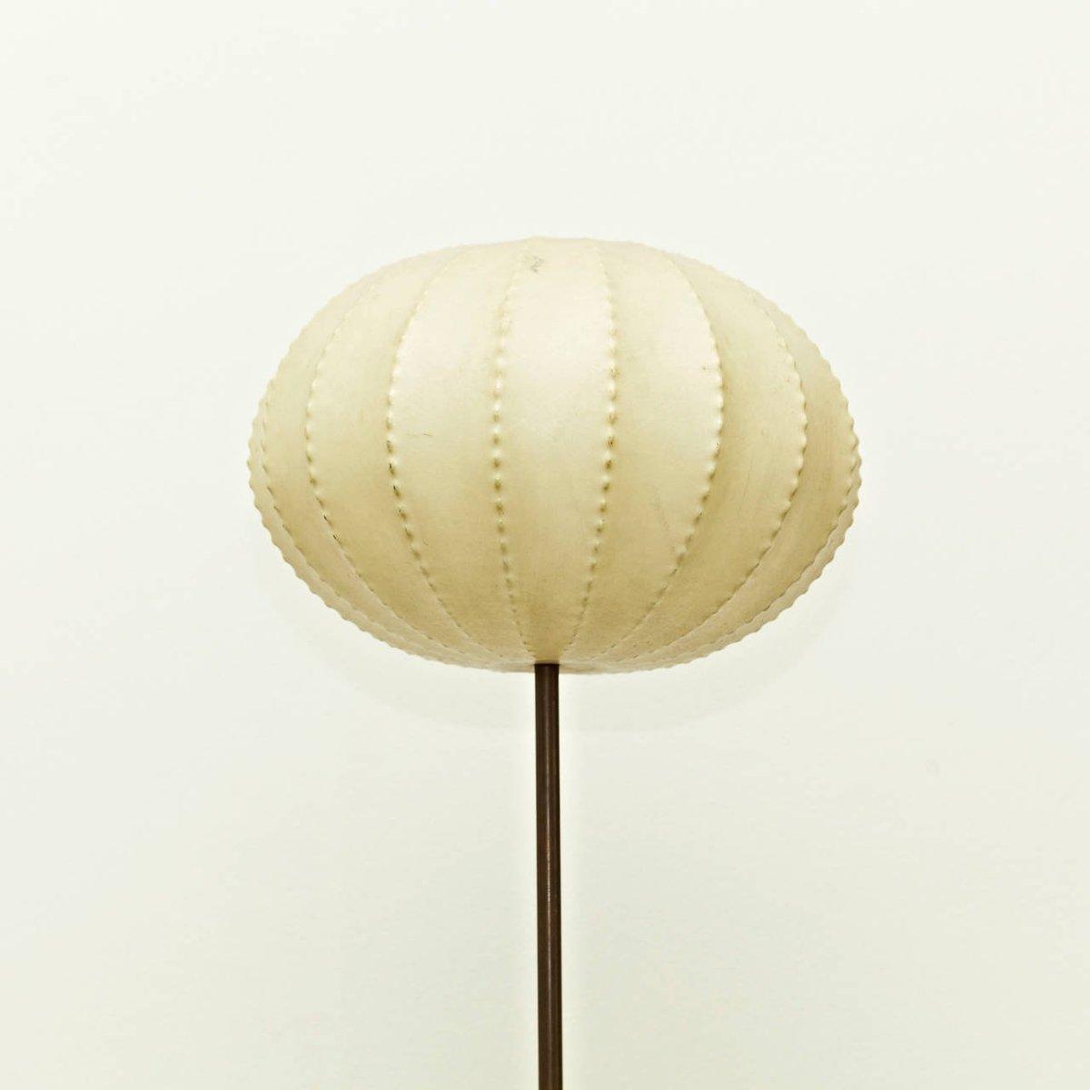 franz sische vintage stehlampe mit rundem lampenschirm 1960er bei pamono kaufen. Black Bedroom Furniture Sets. Home Design Ideas