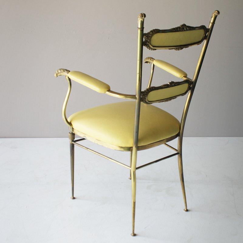 franz sische vintage messing st hle 3er set bei pamono kaufen. Black Bedroom Furniture Sets. Home Design Ideas