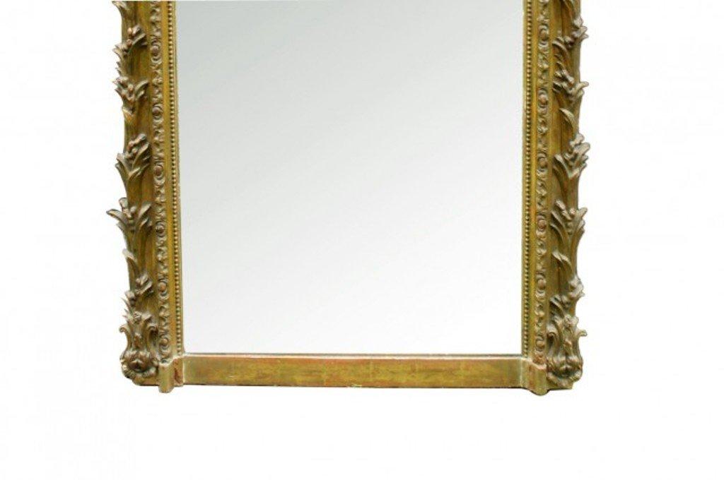 Specchio antico in stile Luigi Filippo dorato in vendita su Pamono