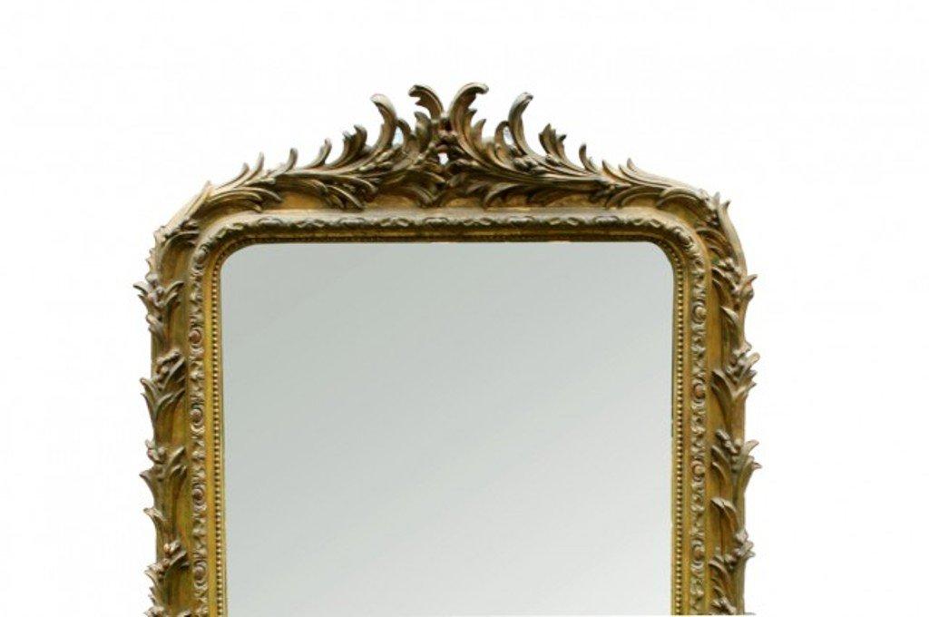 grand miroir antique louis philippe dor en vente sur pamono. Black Bedroom Furniture Sets. Home Design Ideas