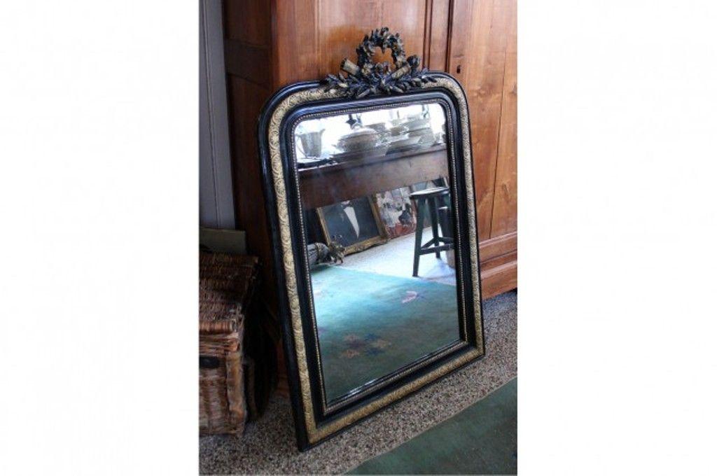 miroir antique noirci et dor louis philippe en vente sur pamono. Black Bedroom Furniture Sets. Home Design Ideas