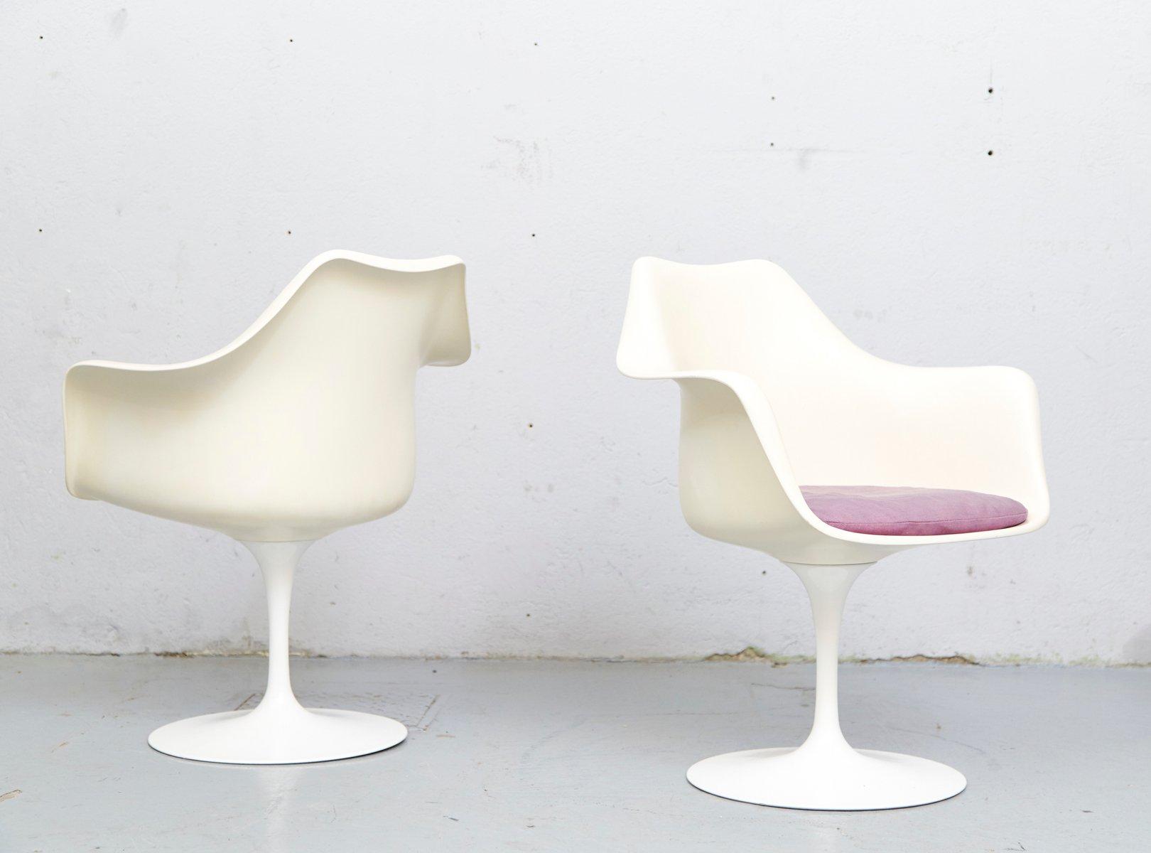 chaise tulipe vintage mod le 150 par eero saarinen pour. Black Bedroom Furniture Sets. Home Design Ideas