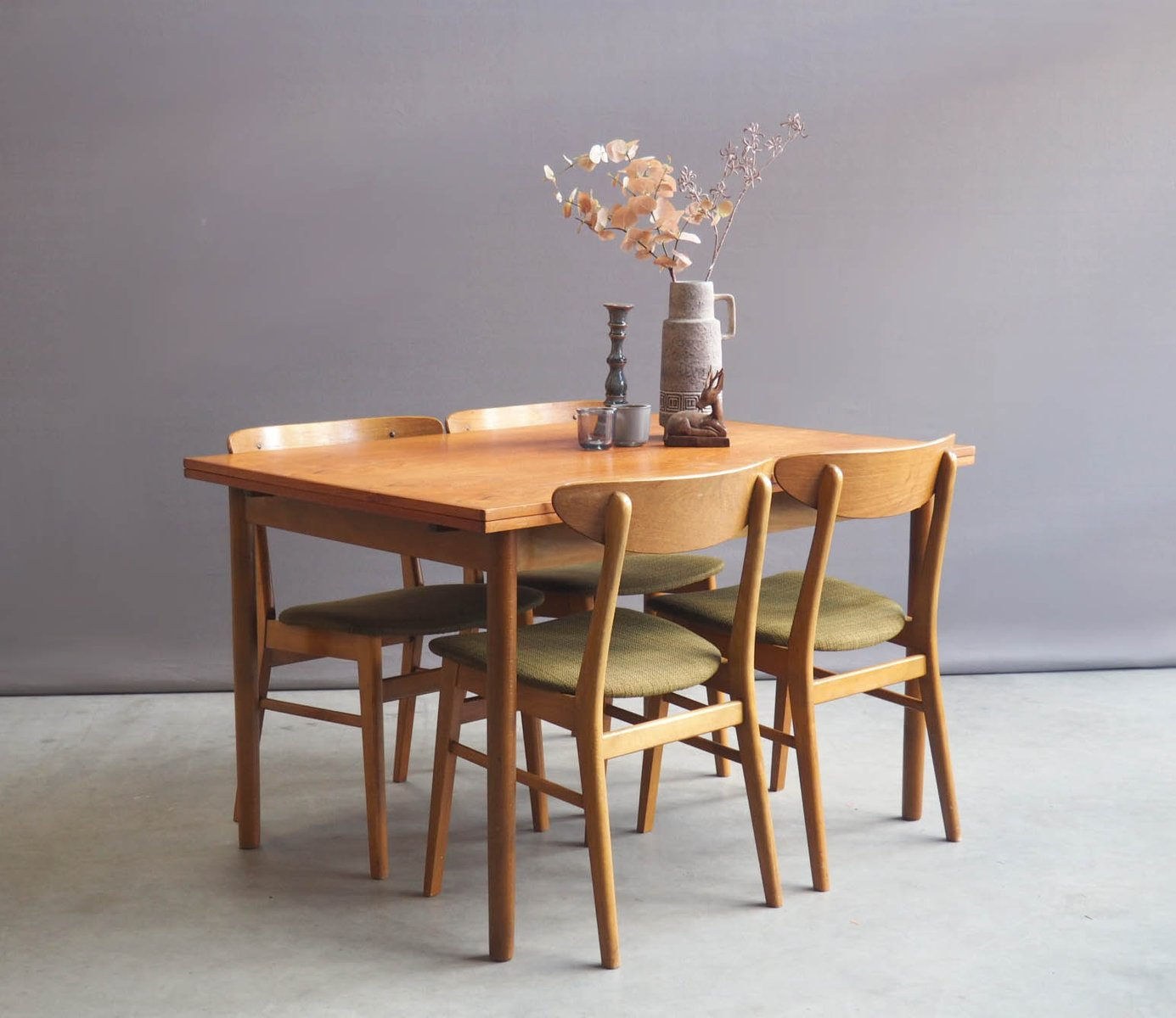 vintage dining table with four chairs from farstrup m bler for vintage dining table with four chairs from farstrup m bler