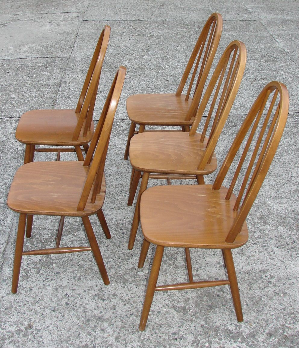 Polish model 9860 chairs 1980s set of 5 for sale at pamono for 1980s chair