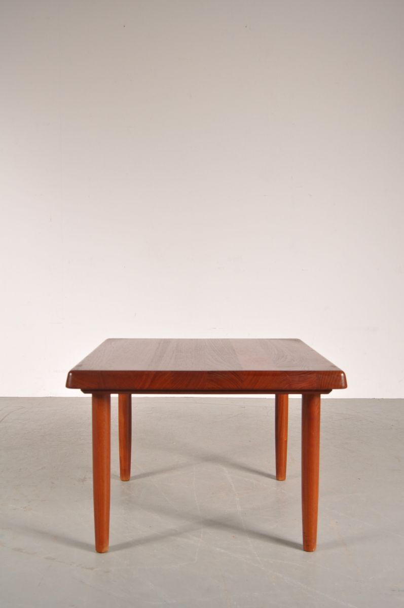 Solid Teak Square Danish Coffee Table From Niels Bach 1950s For Sale At Pamono