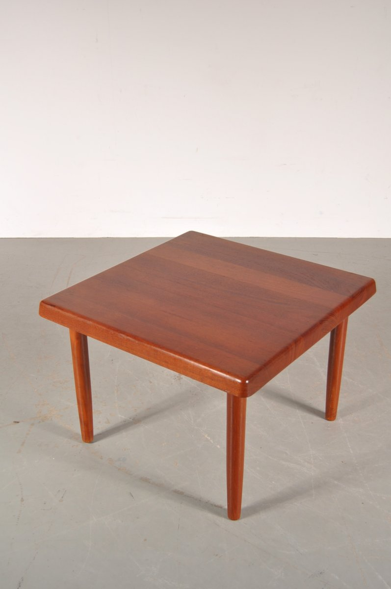 Solid teak square danish coffee table from niels bach 1950s for solid teak square danish coffee table from niels bach 1950s for sale at pamono geotapseo Gallery