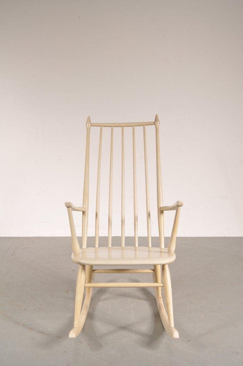 wei er holz schaukelstuhl von nesto 1950er bei pamono kaufen. Black Bedroom Furniture Sets. Home Design Ideas