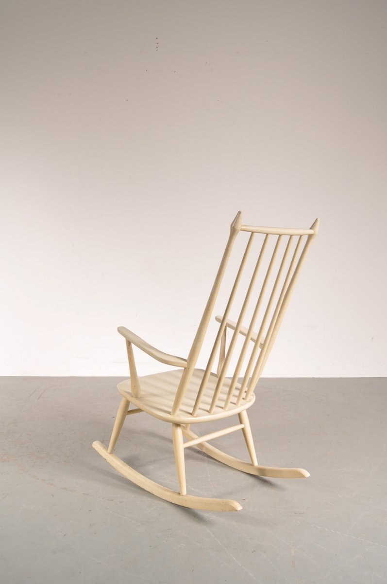 White Wooden Rocking Chair From Nesto 6 83200 Price Per Intended Design