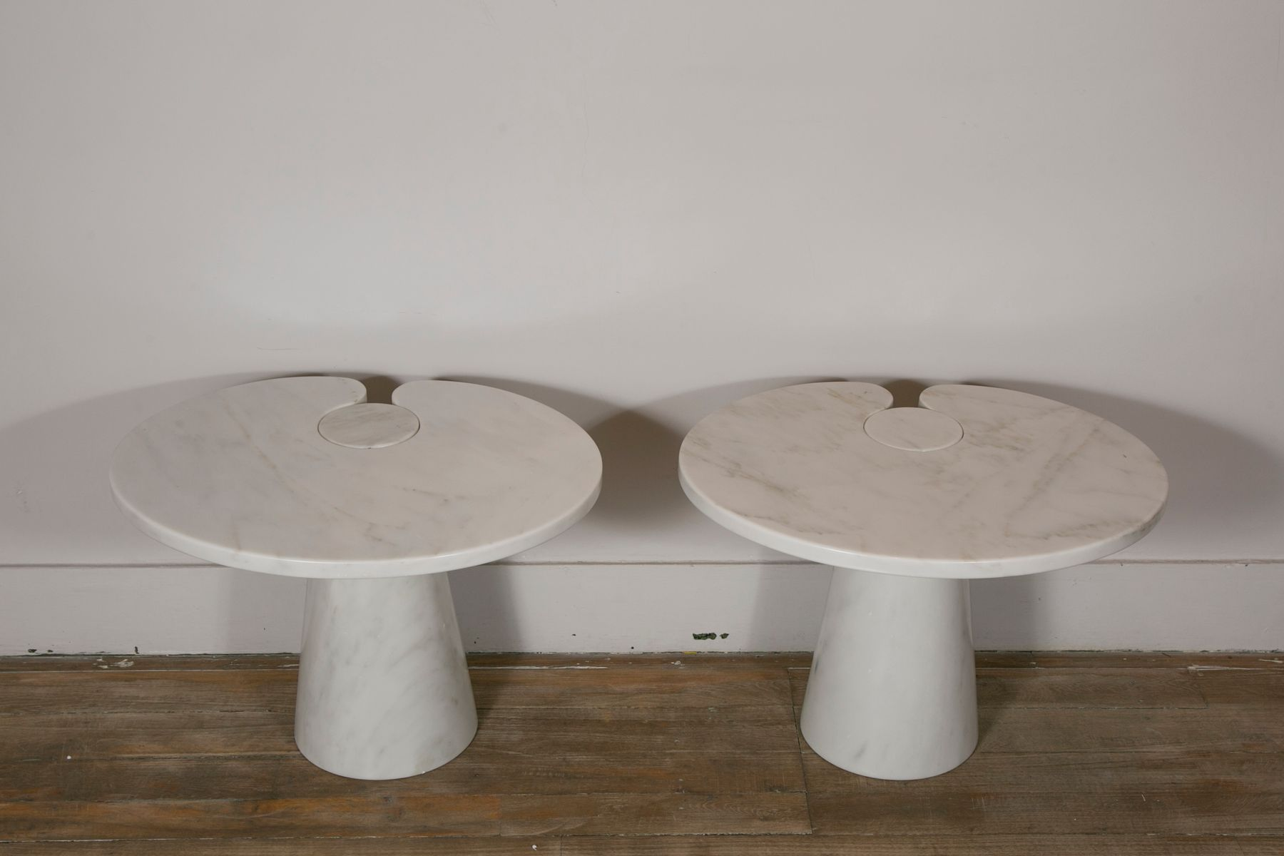 Vintage Marble Side Tables by Angelo Mangiarotti for Skipper Set