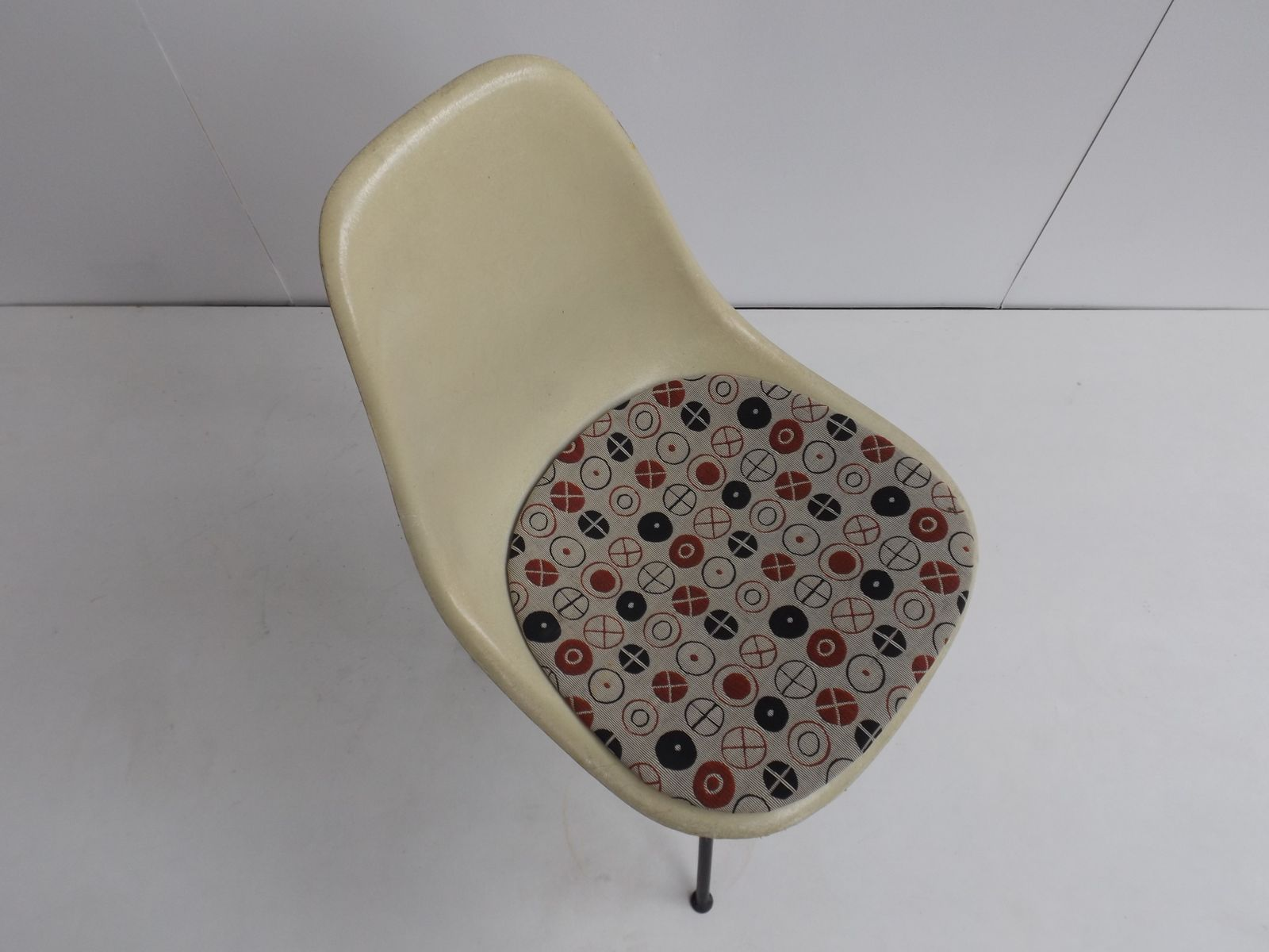 Vintage DSX Fiberglass Side Chair by Charles Ray Eames for