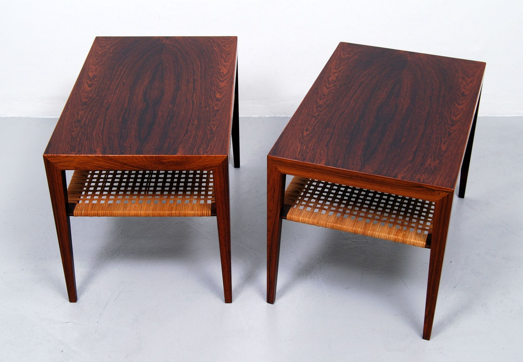 midcentury side tables by severin hansen for haslev set of 2