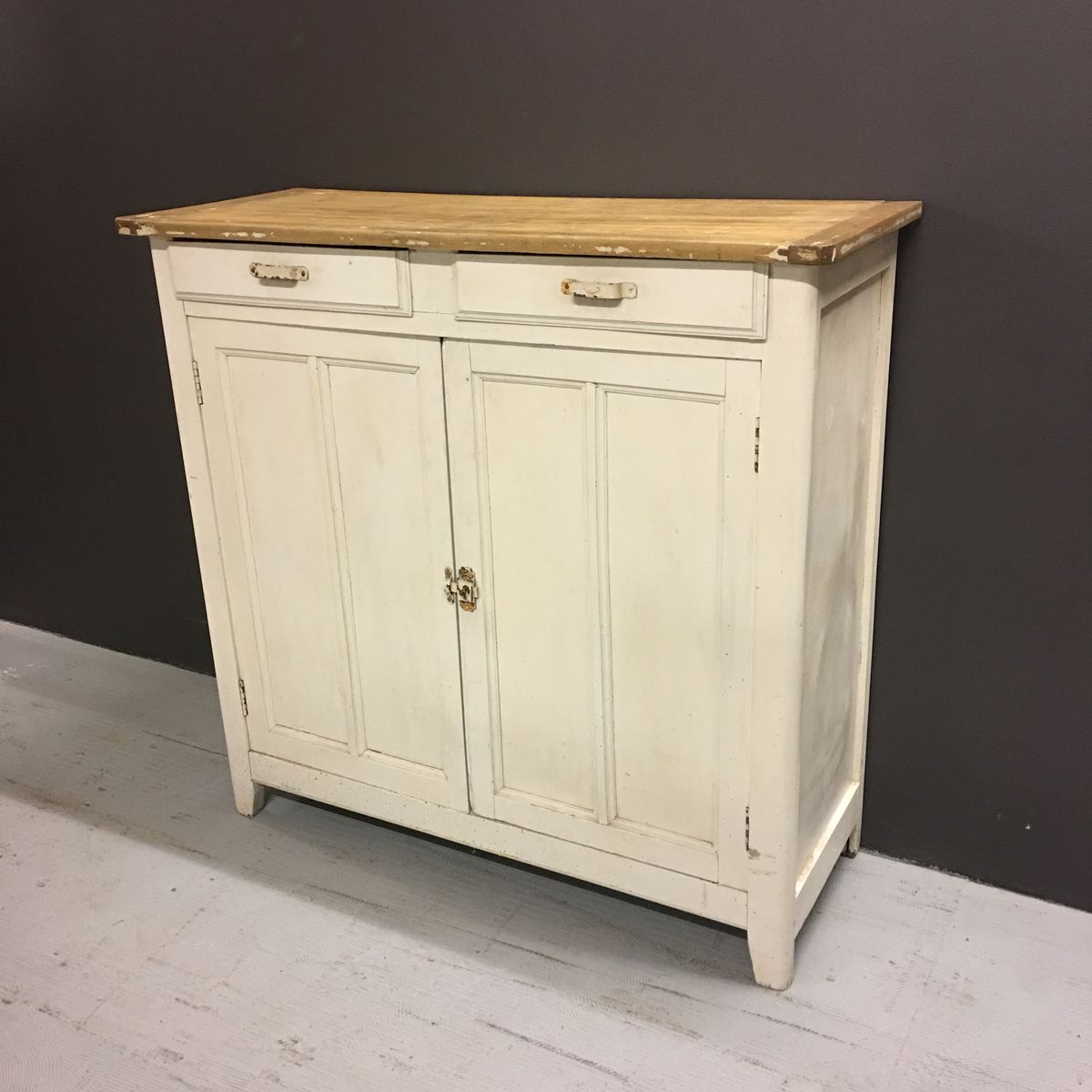 Commode Blanche Brocante,1930s