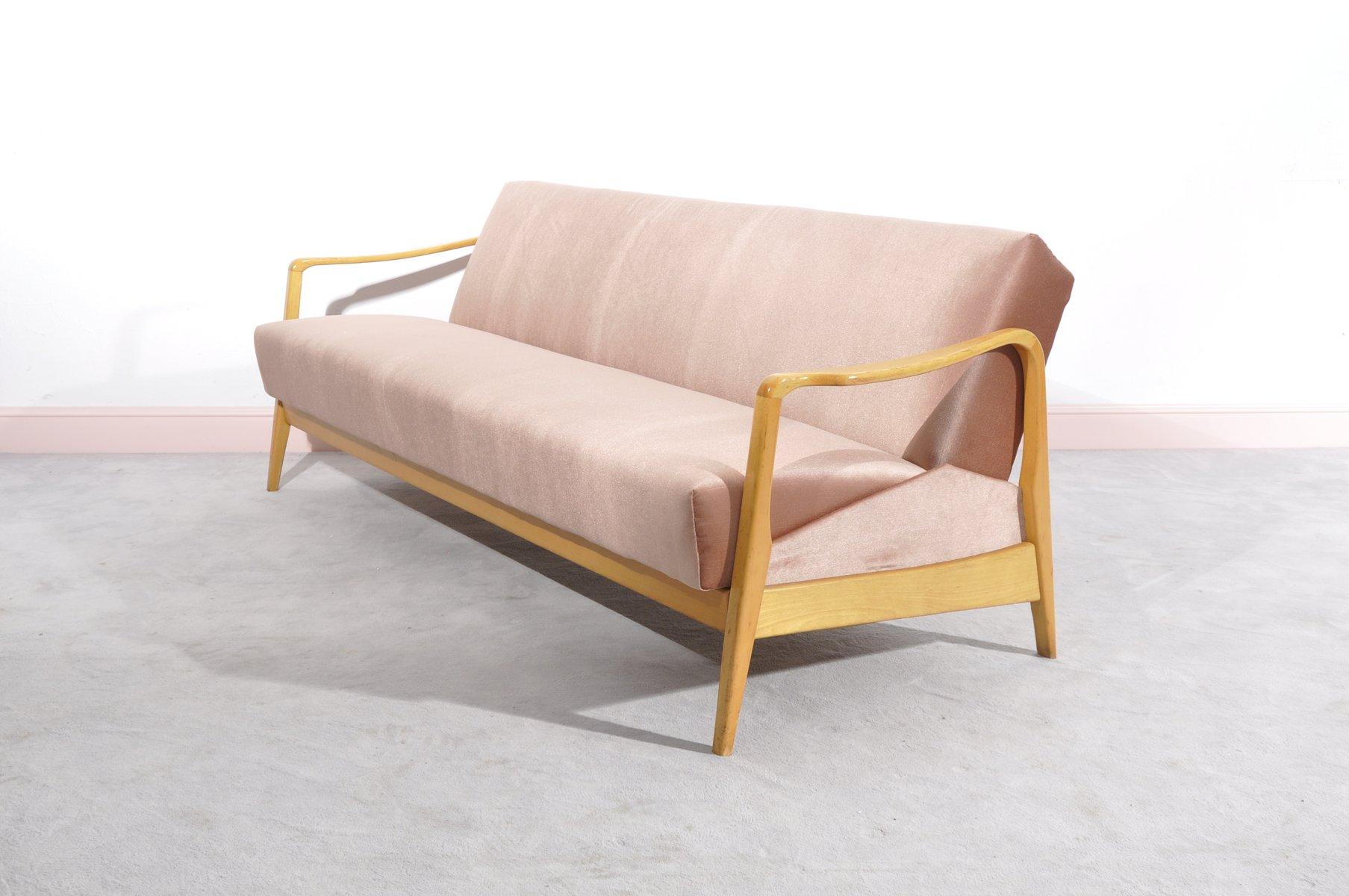 drei sitzer sofa in rosa bei pamono kaufen. Black Bedroom Furniture Sets. Home Design Ideas