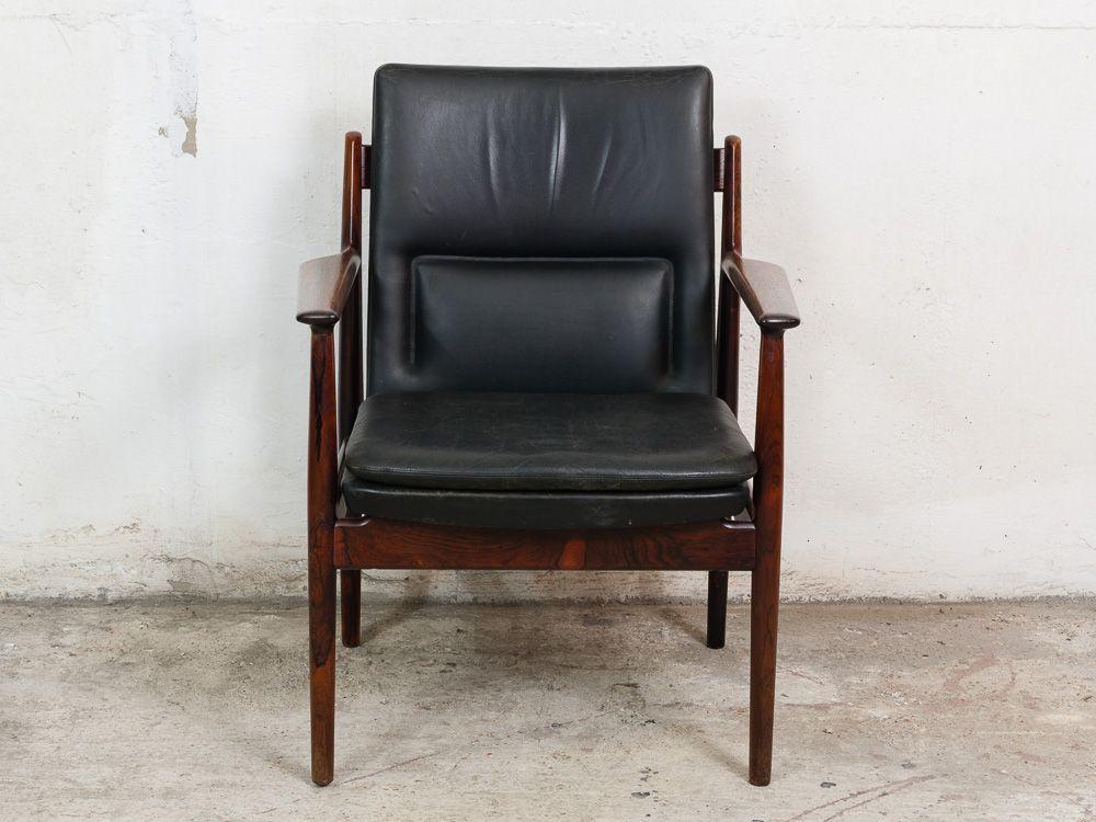Chaise de bureau mod le 431 en palissandre et cuir par - Chaise bureau originale ...