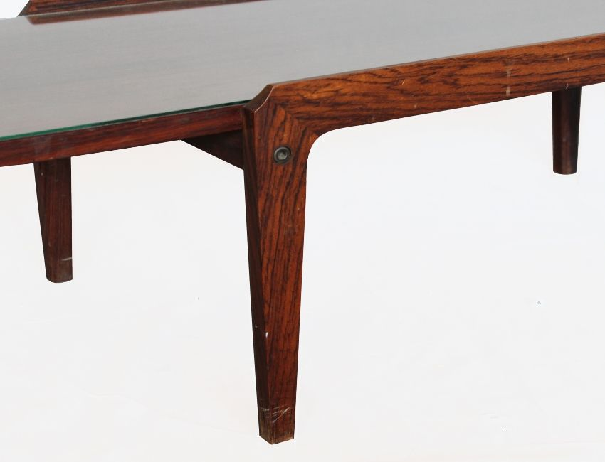 italian mid-century coffee table with a glass top, 1950s for sale