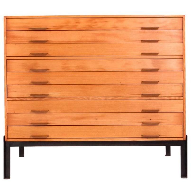 Vintage Flat File Cabinet by Poul Kjærholm for Rud Rasmussen for ...