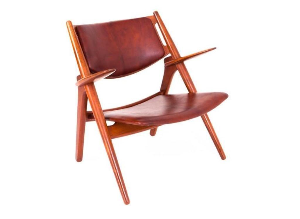 vintage sawbuck sessel von hans j wegner f r carl hansen. Black Bedroom Furniture Sets. Home Design Ideas