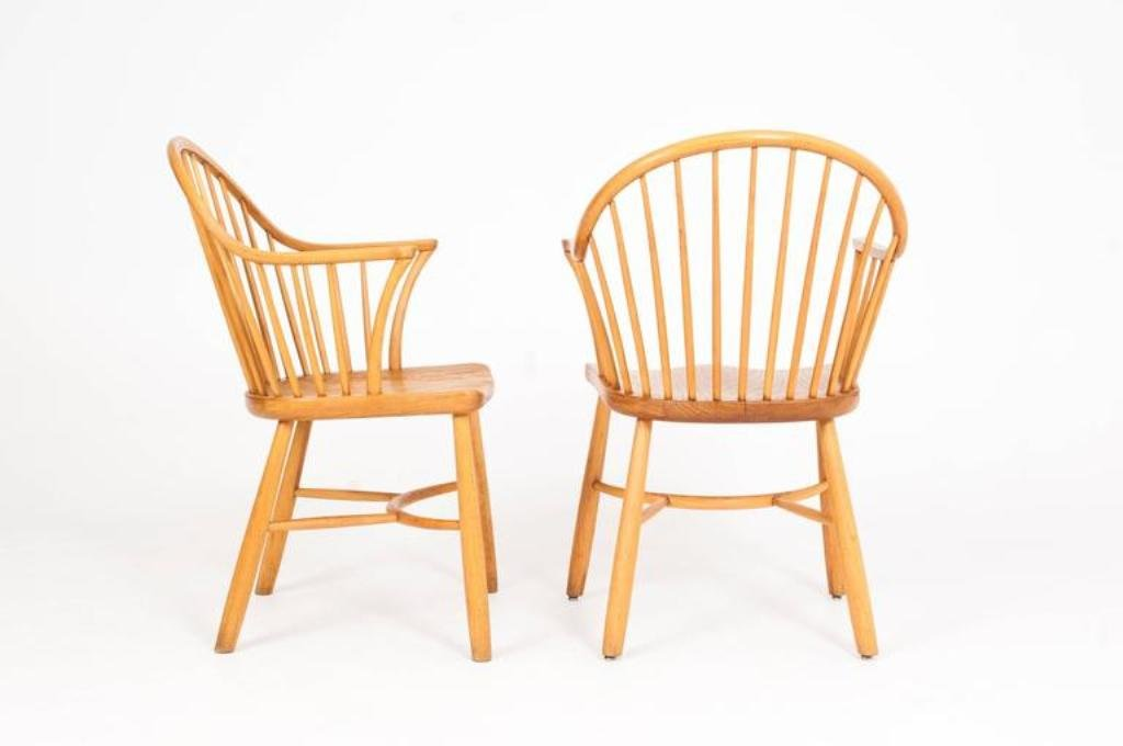 windsor st hle von palle suenson f r fritz hansen 2er set. Black Bedroom Furniture Sets. Home Design Ideas