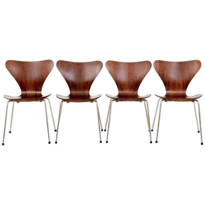 vintage 3107 chair in rosewood by arne jacobsen for fritz. Black Bedroom Furniture Sets. Home Design Ideas