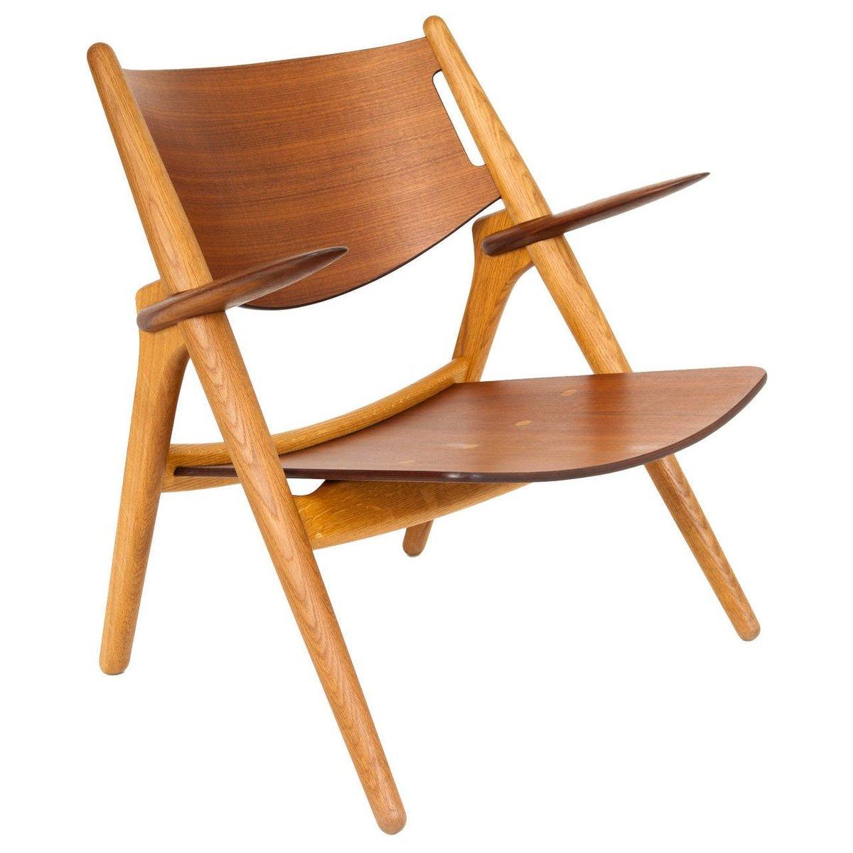 vintage modell ch28 sessel von hans j wegner bei pamono. Black Bedroom Furniture Sets. Home Design Ideas