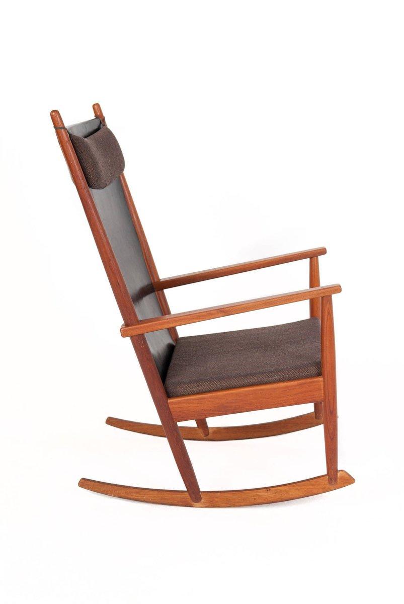 Vintage schaukelstuhl aus teak von hans olsen bei pamono kaufen - Schaukelstuhl retro ...