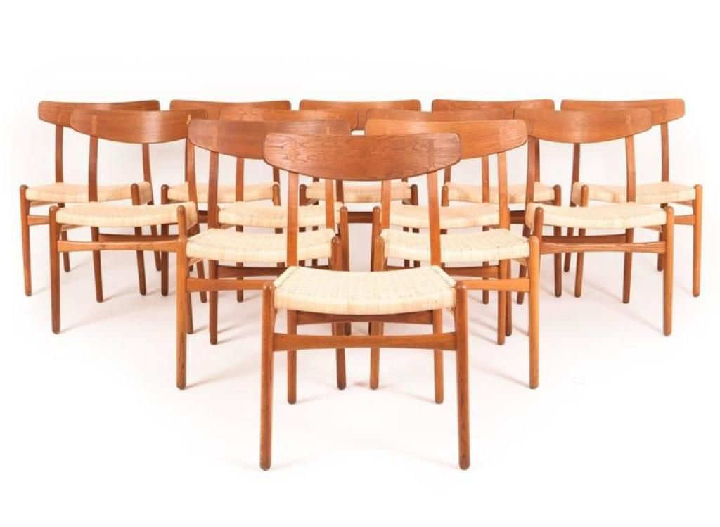 Vintage Oak Dining Chairs by Hans J Wegner for Carl Hansen Son