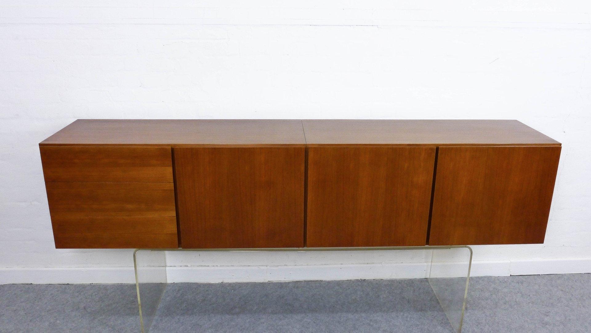 h ngendes sideboard 1960er bei pamono kaufen. Black Bedroom Furniture Sets. Home Design Ideas