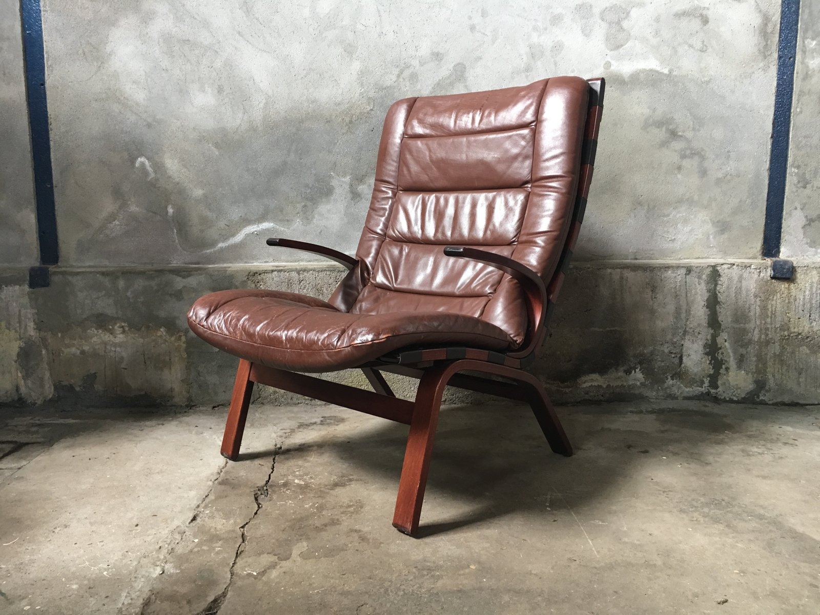 Bentwood lounge chair - Vintage Bentwood Lounge Chair From Farstrup M Bler 1970s