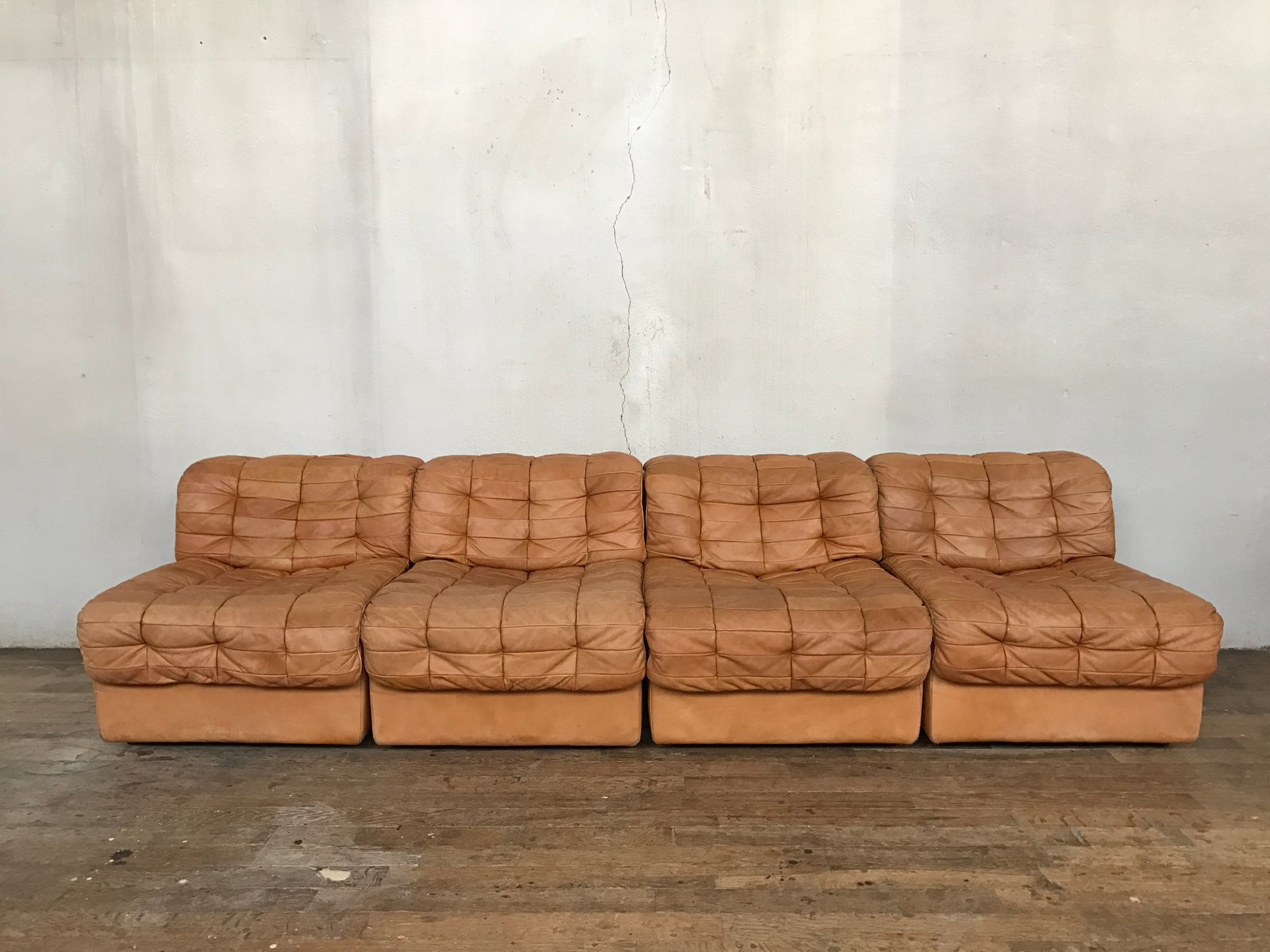 modulares schweizer vintage ds 11 ledersofa von de sede. Black Bedroom Furniture Sets. Home Design Ideas