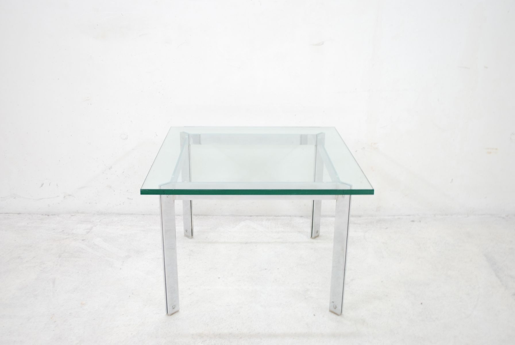 Vintage Glass U0026 Chrome Coffee Table