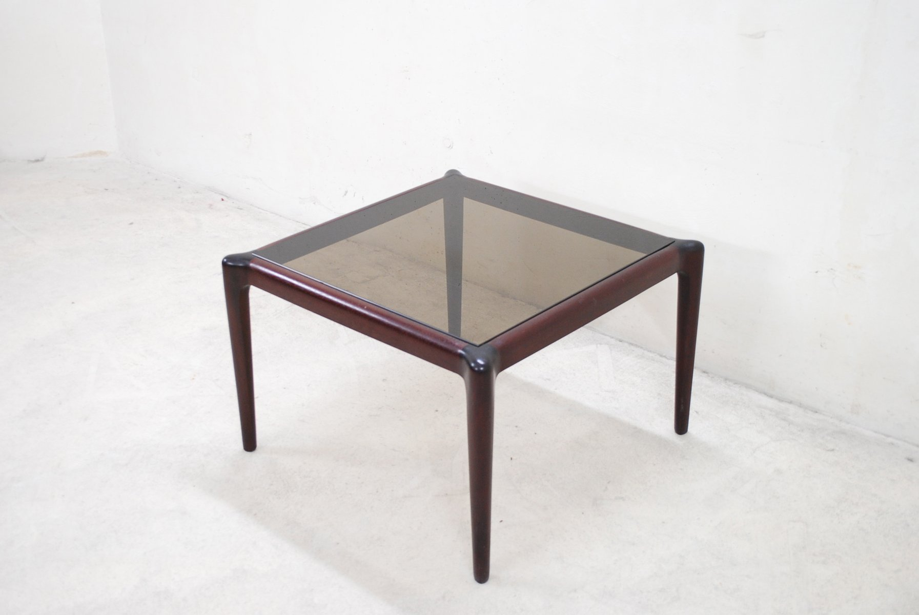 Vintage Mahogony U0026 Smoked Glass Coffee Table