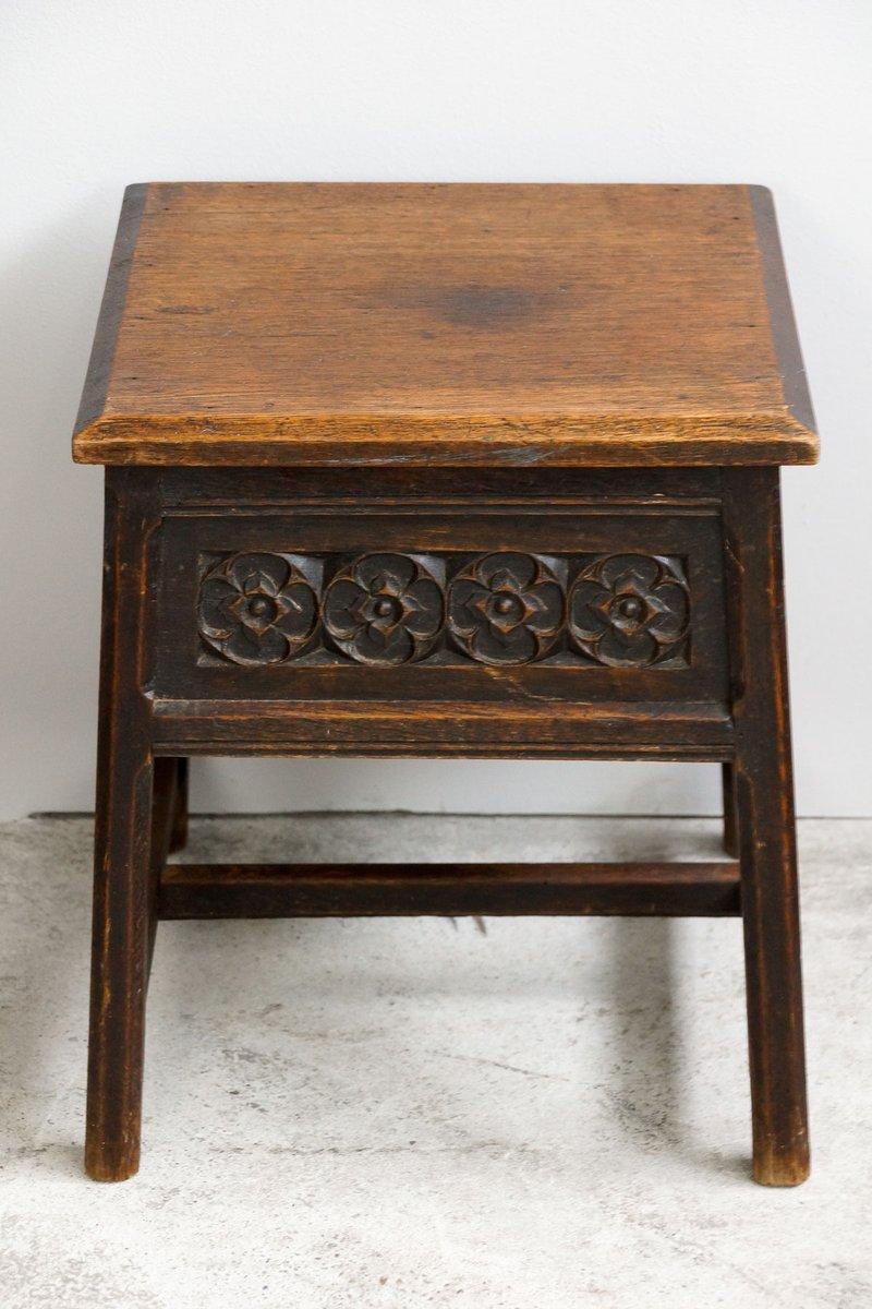 Antique square side table - Antique Oak Square Side Table
