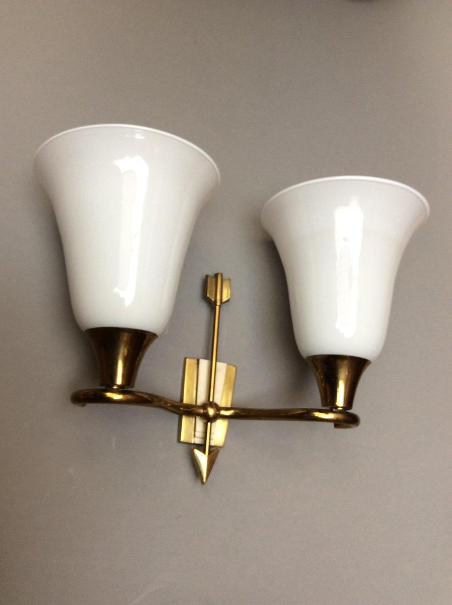 italienische wandlampen mit zwei leuchten von emilio. Black Bedroom Furniture Sets. Home Design Ideas