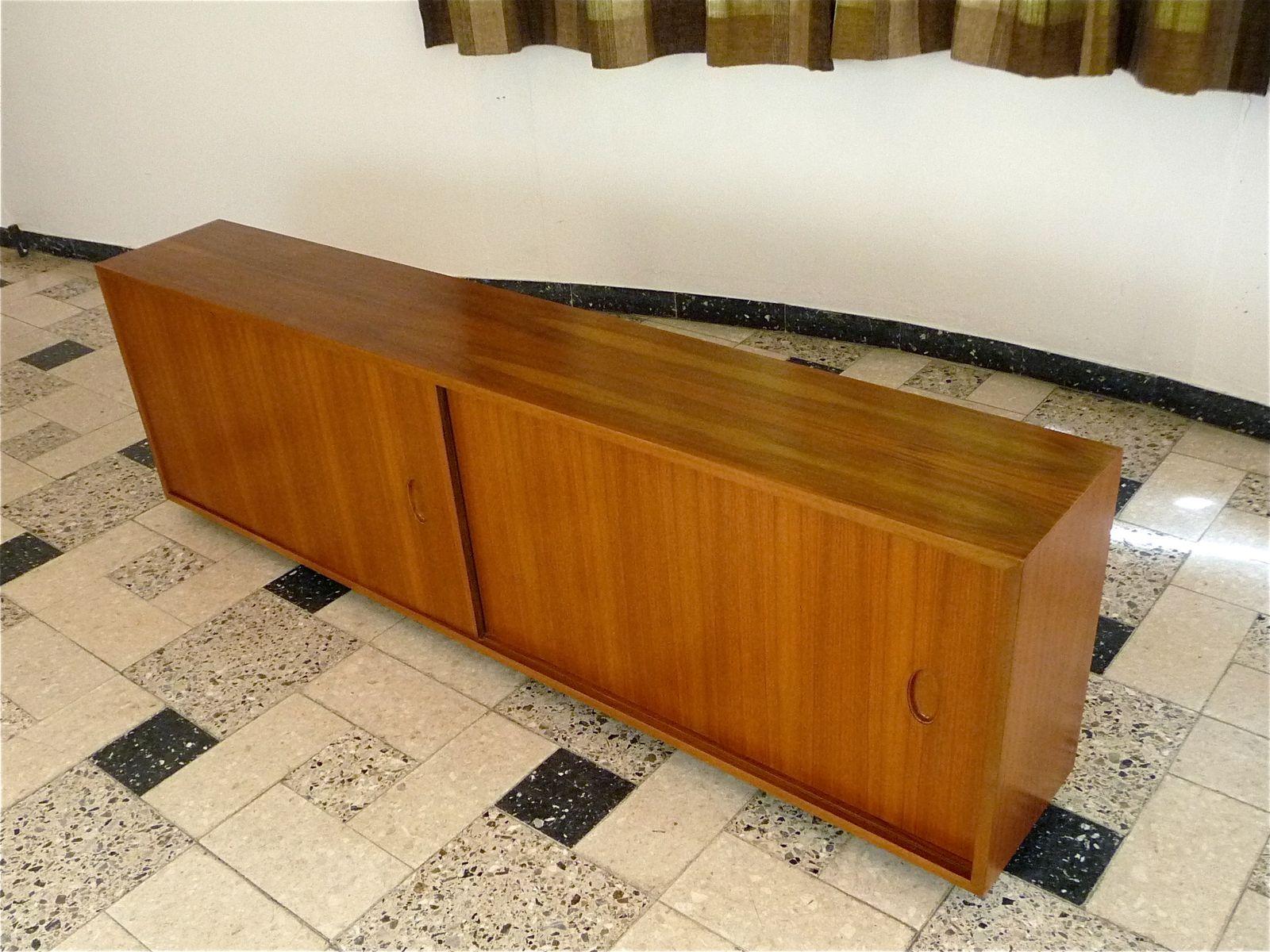 schwebendes sideboard von georg satink f r wk m bel 1950er bei pamono kaufen. Black Bedroom Furniture Sets. Home Design Ideas