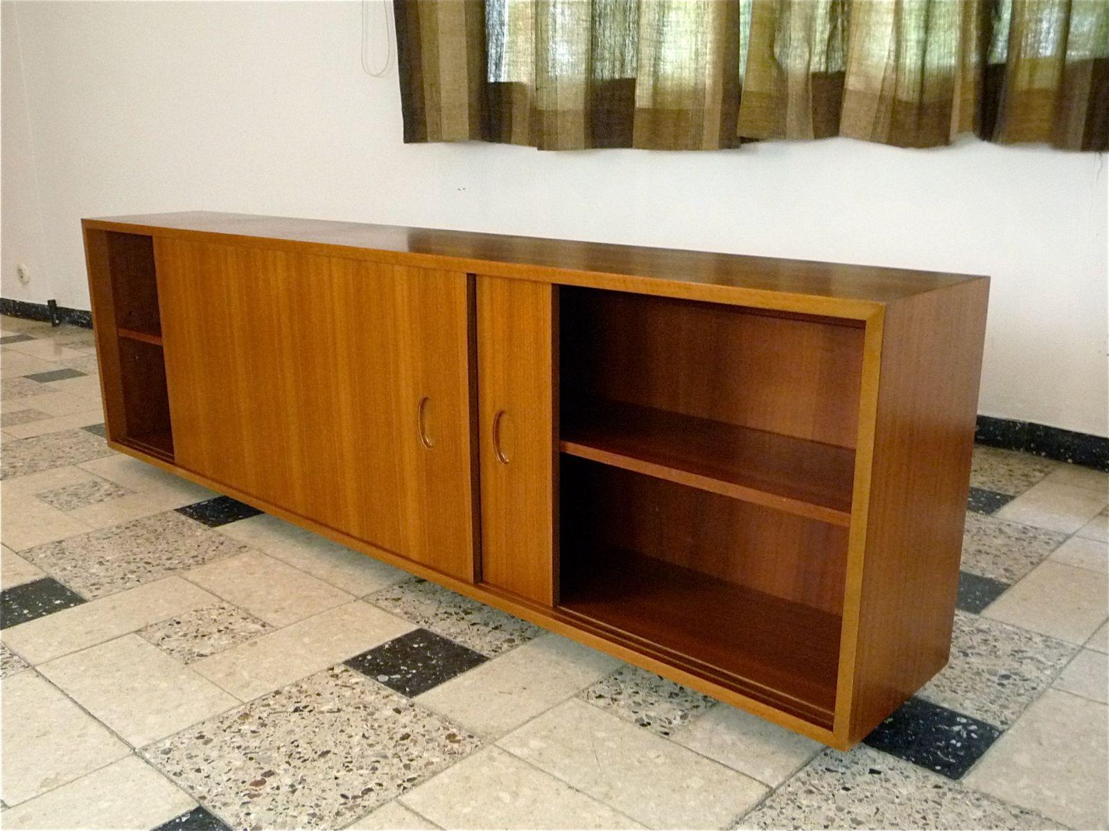 hanging sideboard by georg satink for wk m bel 1950s for. Black Bedroom Furniture Sets. Home Design Ideas