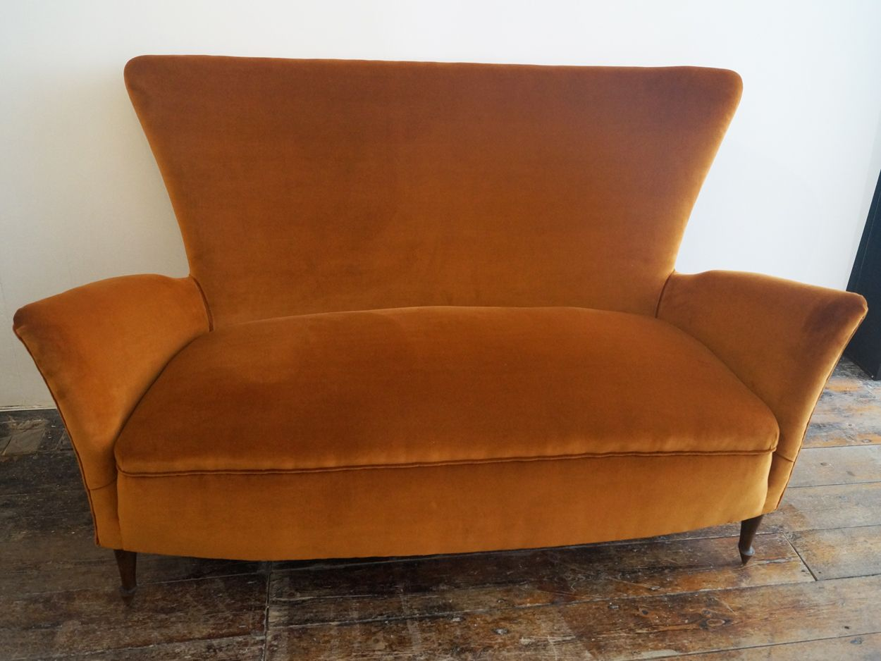 Italian Two Seater Wingback Sofa 1950s For Sale At Pamono