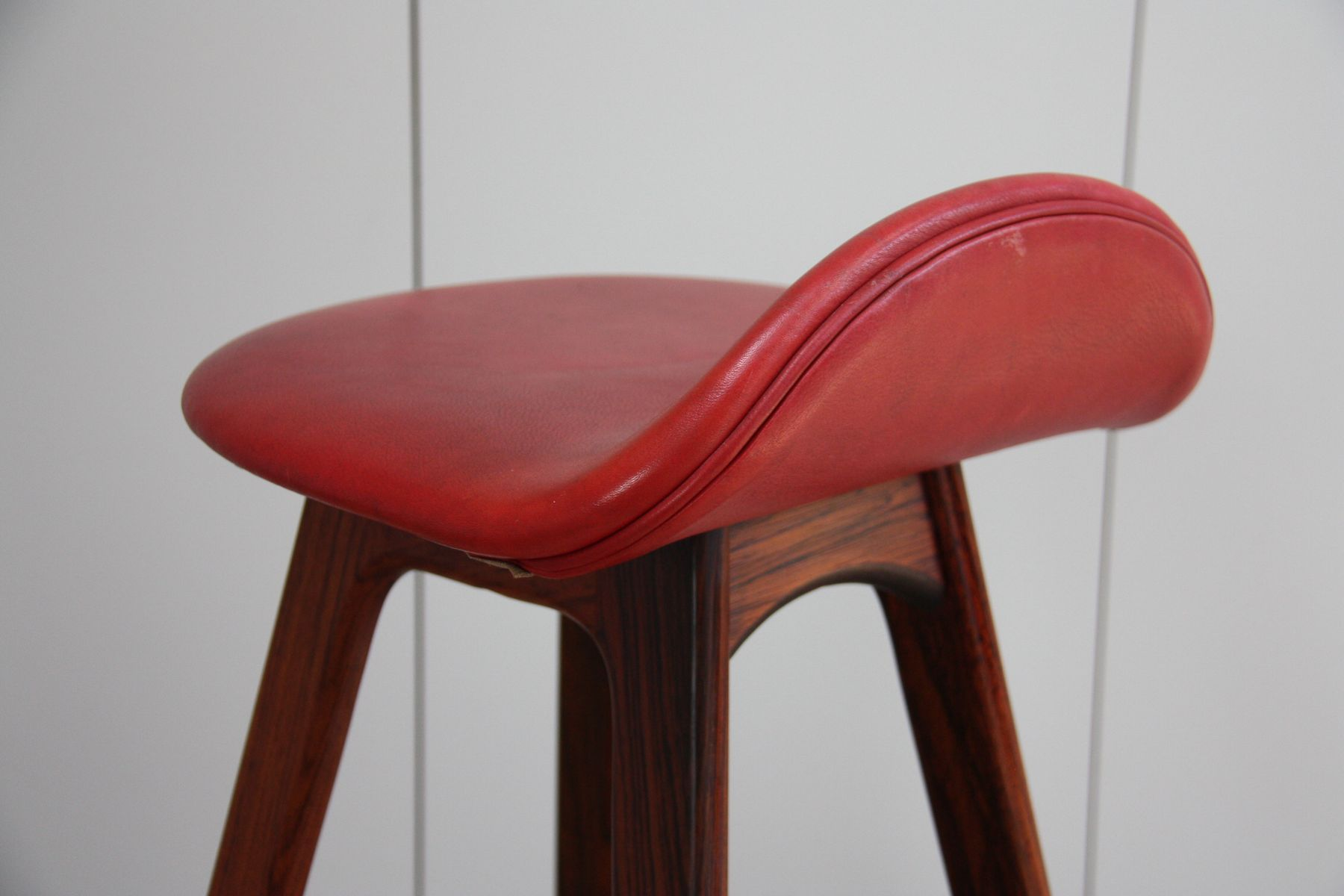 Vintage bar stool in rosewood by erik buch for dyrlund for sale at pamono - Erik buch bar stool ...