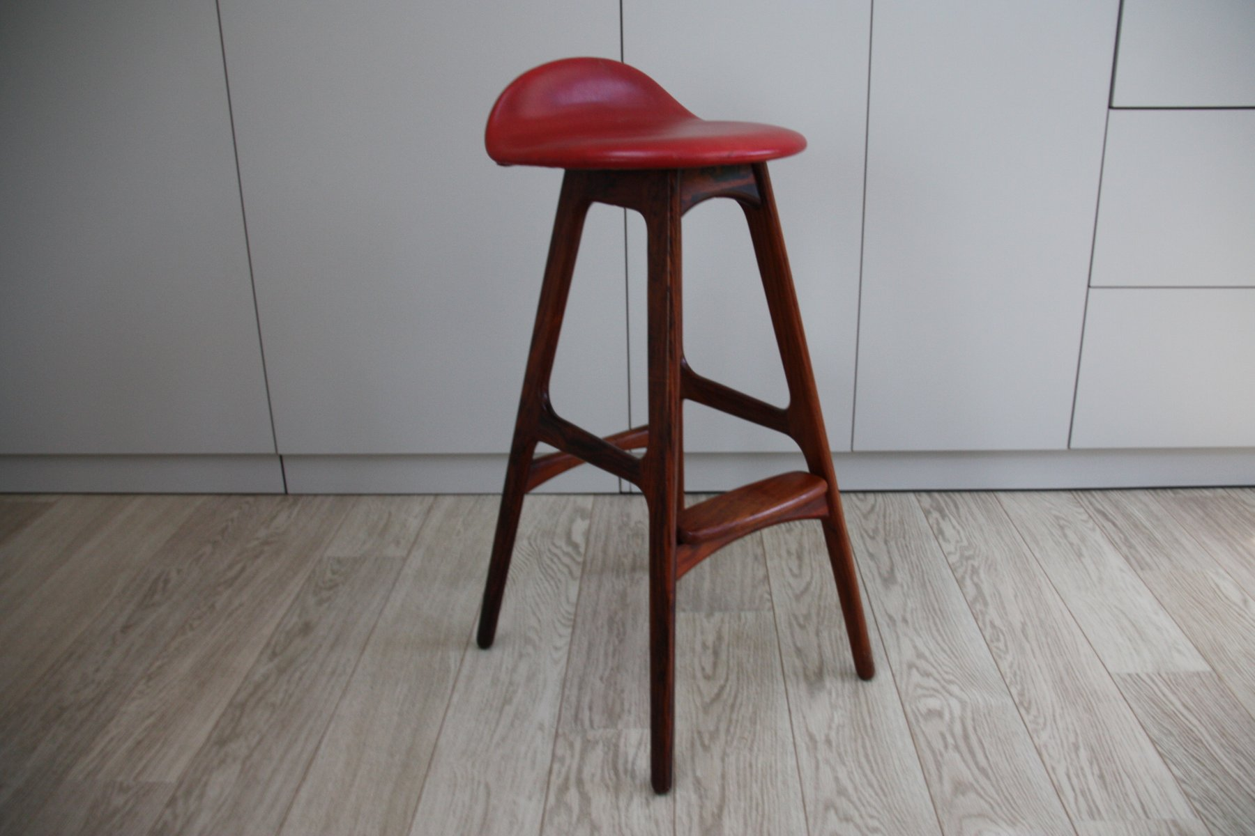 Vintage Bar Stool in Rosewood by Erik Buch for Dyrlund : antique bar stools wood - islam-shia.org