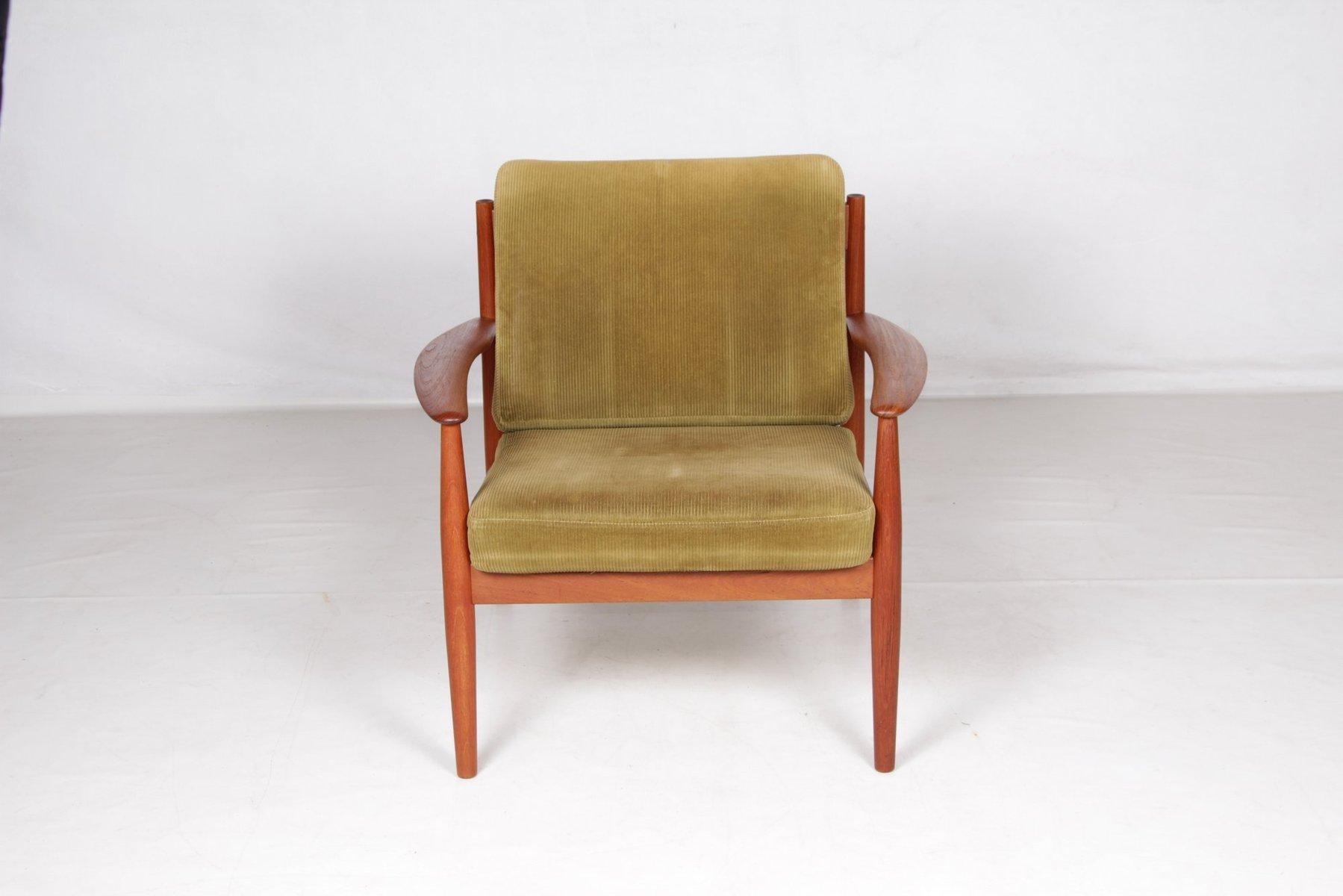 fauteuil club en teck par grete jalk pour s 248 n 1960s en vente sur pamono