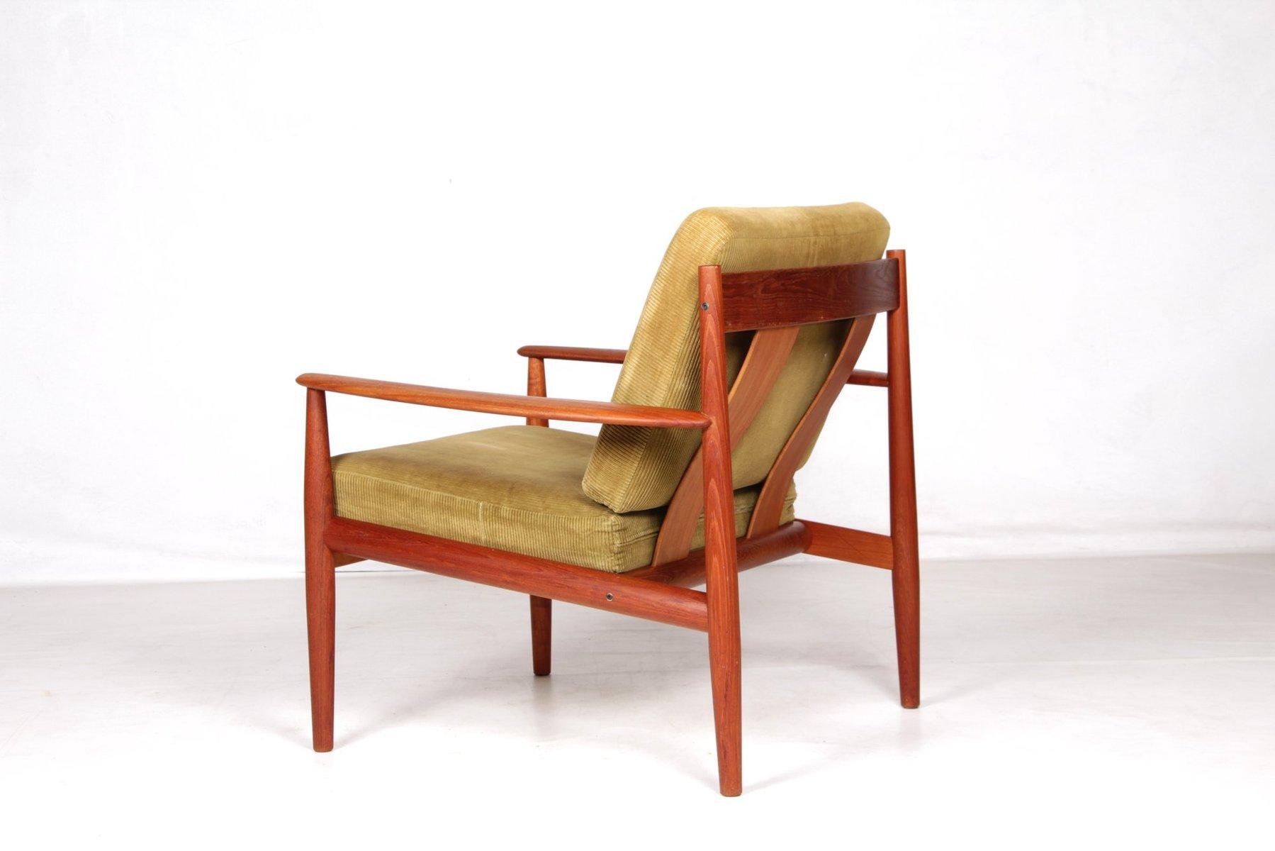 fauteuil club en teck par grete jalk pour france s n 1960s en vente sur pamono. Black Bedroom Furniture Sets. Home Design Ideas