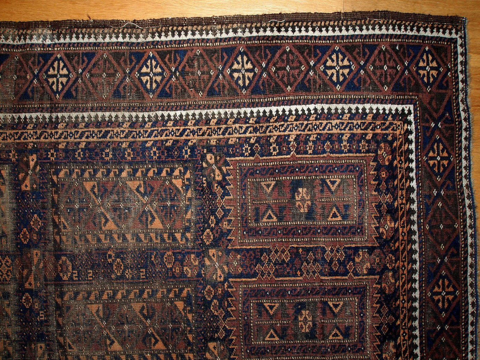 antique handmade afghan baluch rug, 1900s for sale at pamono