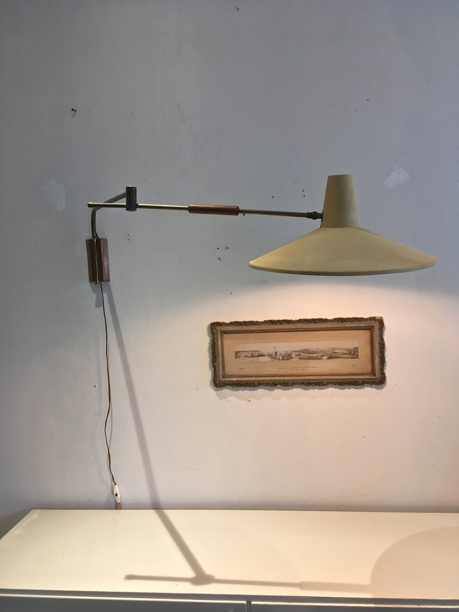 Wall Mounted Articulated Lamp : Dutch Vintage Wall Lamp with Articulated Arm for sale at Pamono