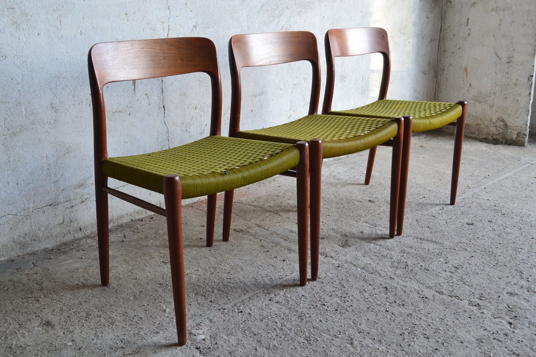 High Quality Danish Chairs By Niels Otto Møller For J. L. Møllers, 1960s, Set Of 3